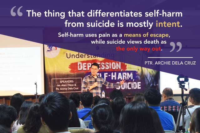 Ptr. Archie Dela Cruz talking about Self-Harm and Suicide
